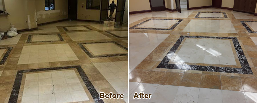 Travertine Floor Cleaning in Irvine, CA