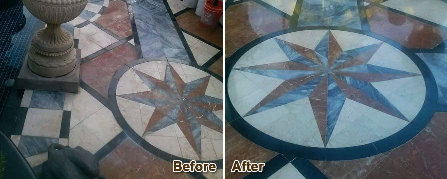 Marble Floor Calcium Removal