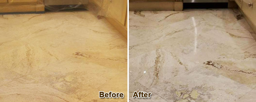 Travertine Floor Cleaning & Restoration