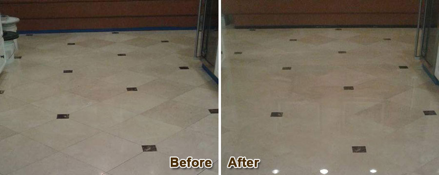 Marble Floor Restoration Laguna Beach