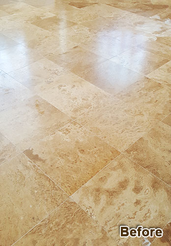 Marble floor cleaning & restoration services