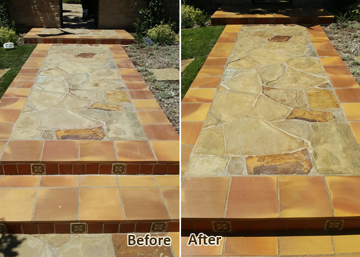Before & After Natural Stone Restoration