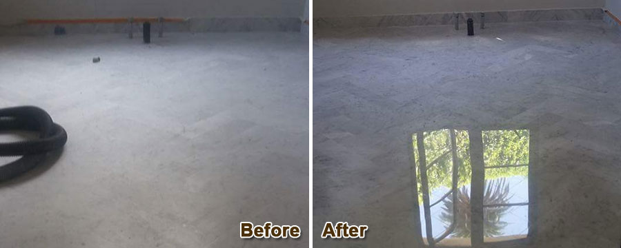 Stone Floor Lippage Removal