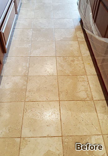 Travertine Floors, Countertops & Walls Restoration