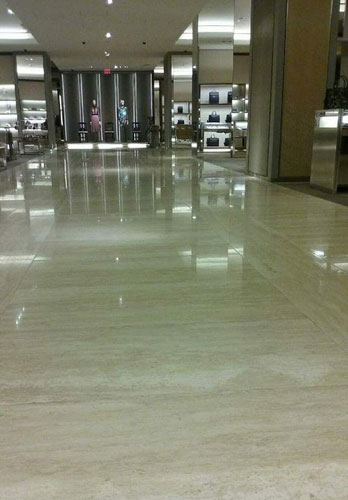 Travertine floor repair, Costa Mesa.