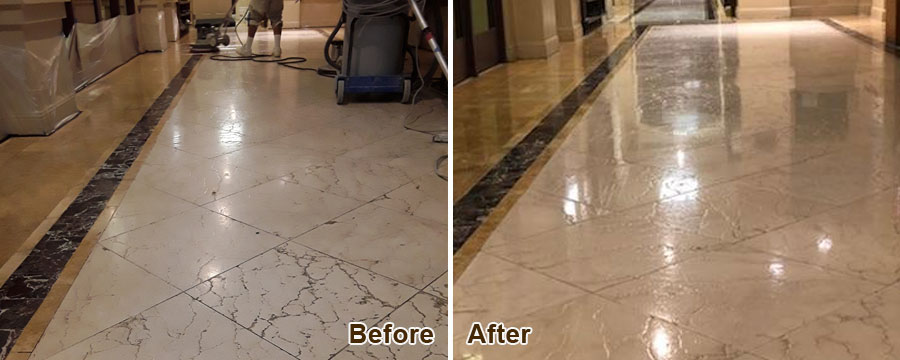 Travertine Floor Polishing in Irvine, CA