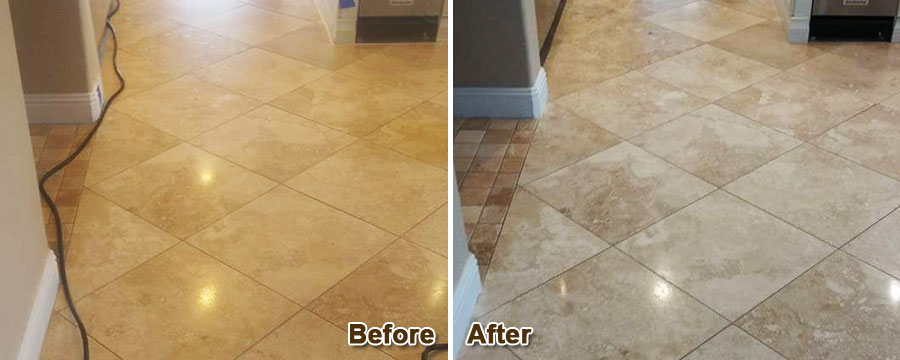 Travertine Floor Stain & Scratch Removal