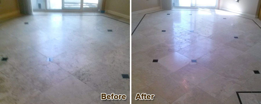 Travertine Floors Grinding & Polishing
