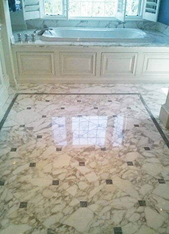 Marble Shower Floor Cleaning